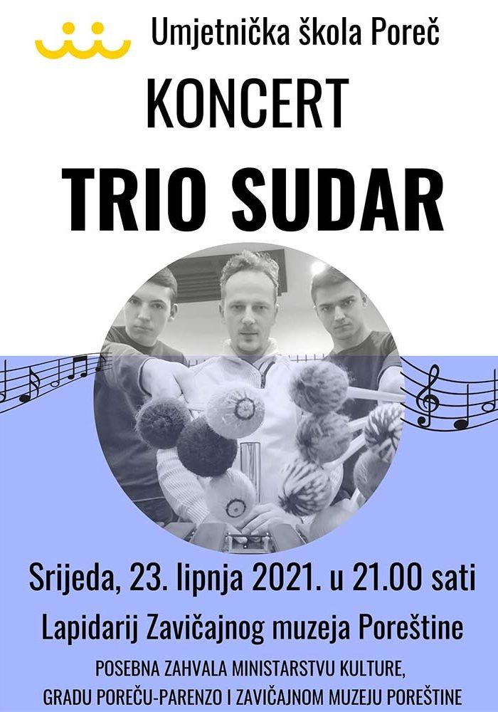 Koncert Trio Sudar plakat