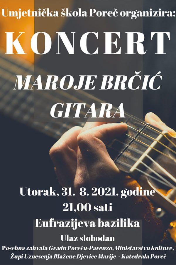 Koncert Maroje Brčić plakat