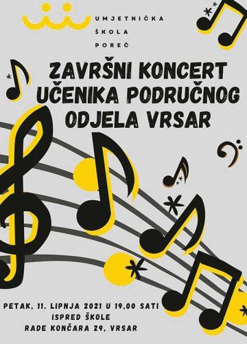 Zavrsni koncert Vrsar 2021. plakat