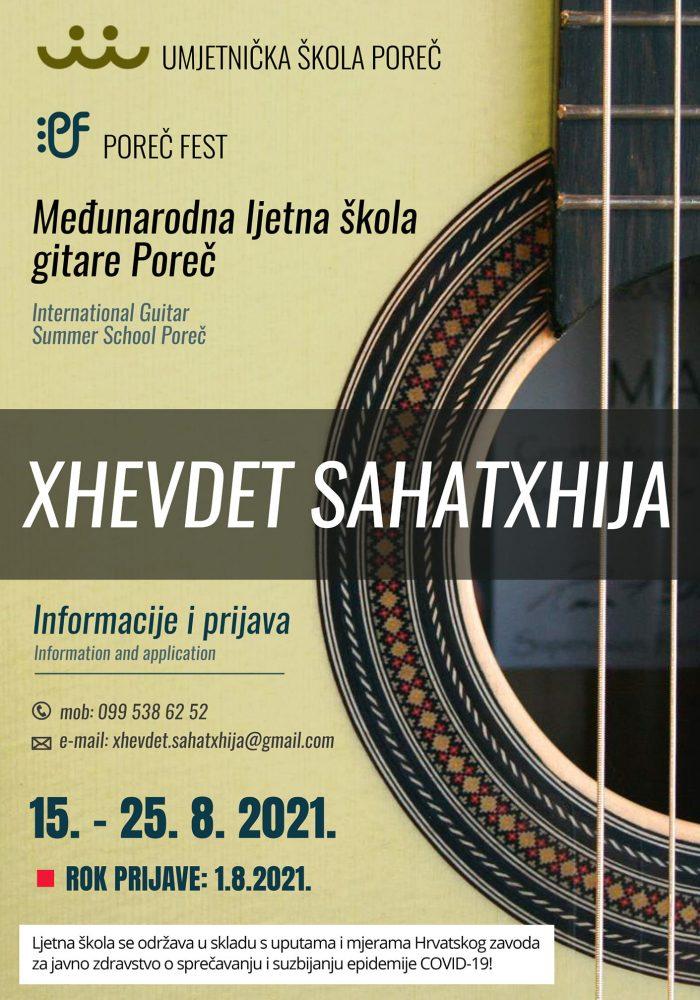 Plakat ljetna škola gitare Poreč 2021